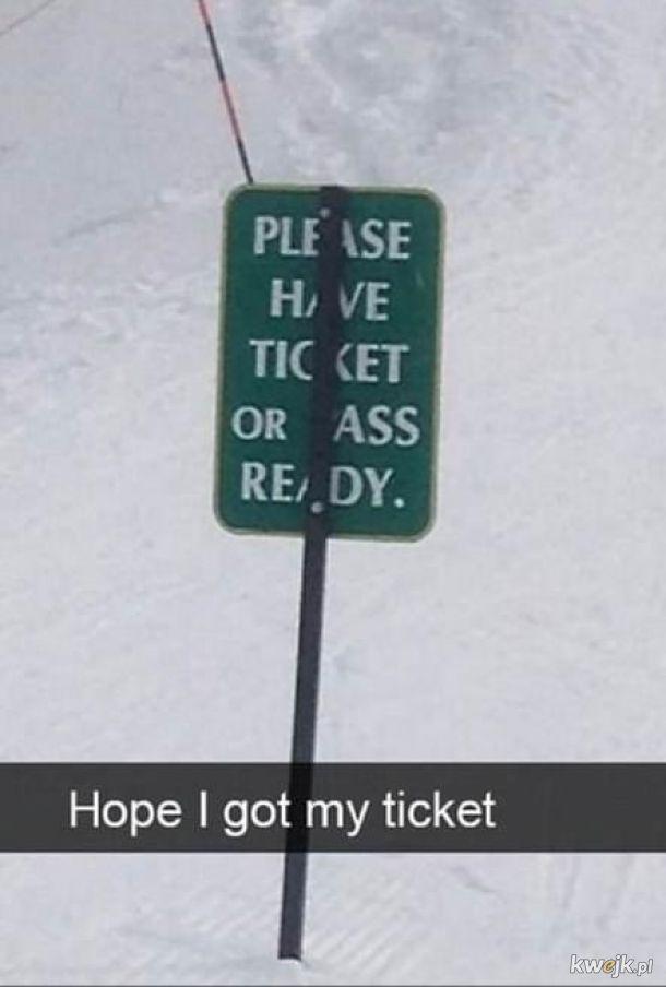 Gdzie ten bilet...