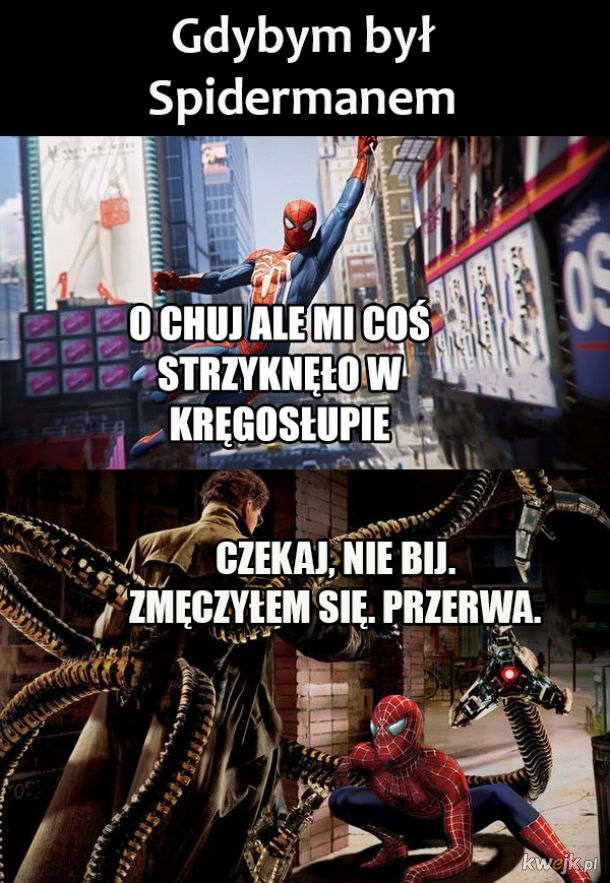 Ja jako spiderman