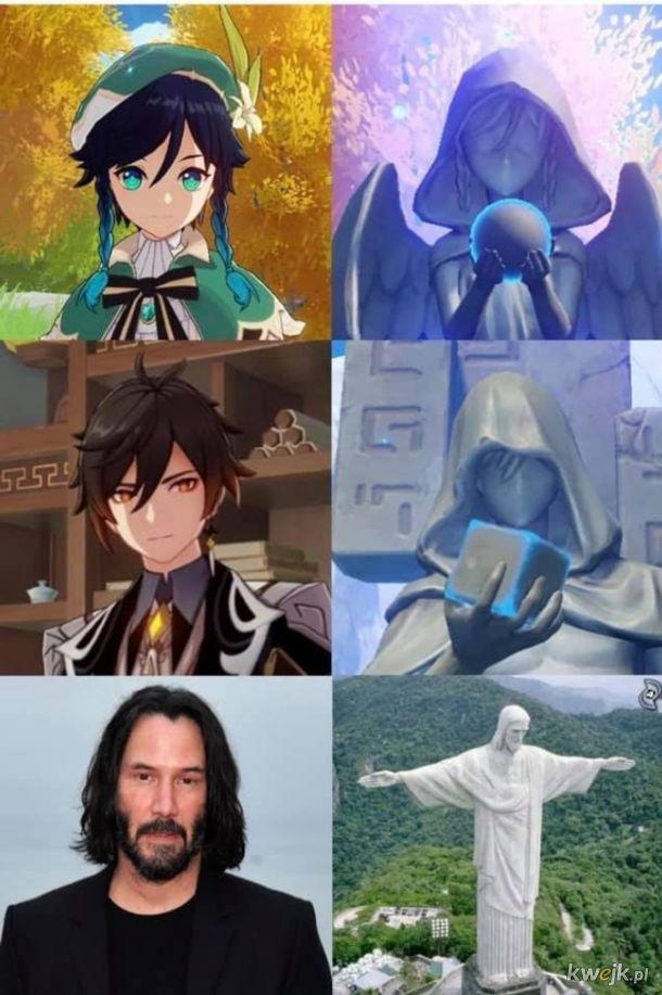 Znane posągi.