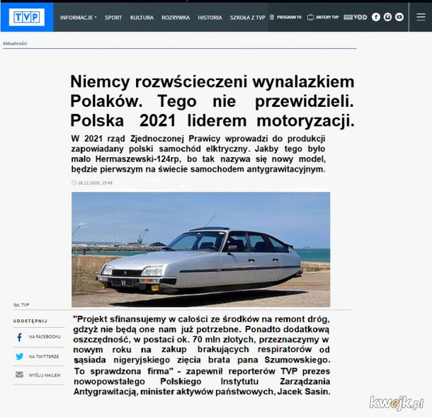 """""""Polska Tesla"""" nie ma sobie równych - ogłosiło TVP"""
