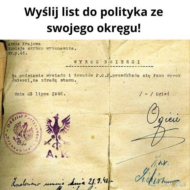 List do polityka