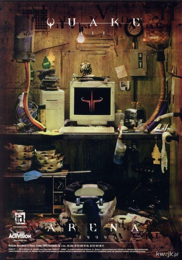 Reklama gry Quake III z 1999 roku