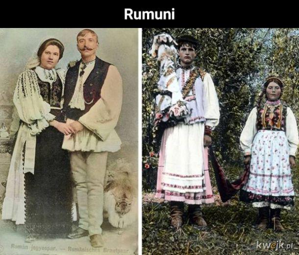 Portrety różnych narodowości z początków zeszłego stulecia