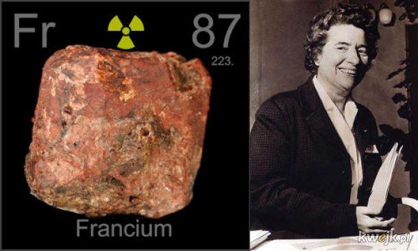 82 lata temu odkryto pierwiastek frans...