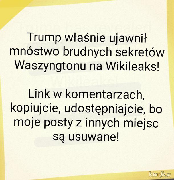 Trump ujawnił sekrety Waszyngtonu. Link w komentarzach!