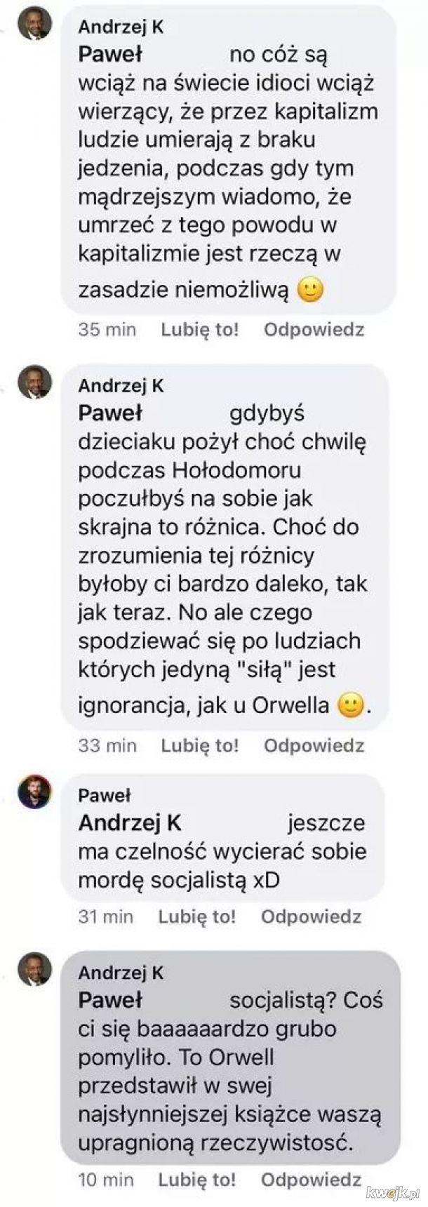 """""""Ale co ty wygadujesz, że niby Orwell był socjalistą?"""""""