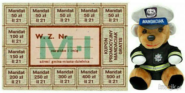 """W ramach sprawiedliwej reglamentacji każdy otrzyma kartki Narodowej Puli Mandatowej. Za terminową spłatę pluszak """"Mandaciak"""" gratis!"""