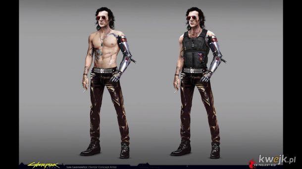 Johnny Silverhand wygląd przed tym jak Keanu miał być w grze.