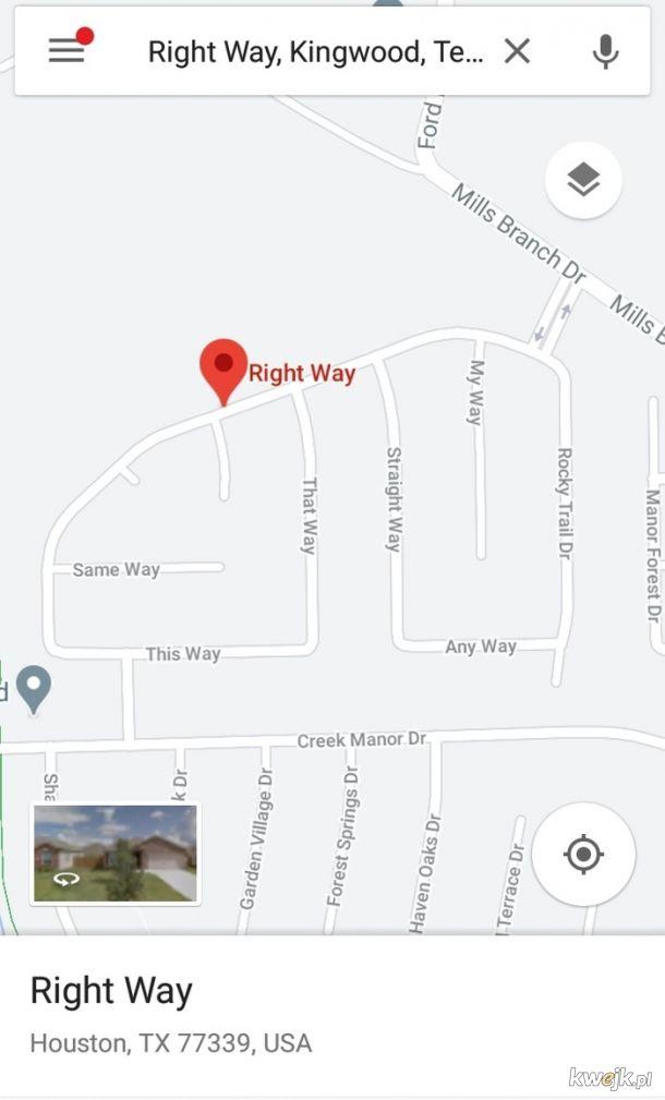 Chyba nie mieli pomysłu na nazwy ulic