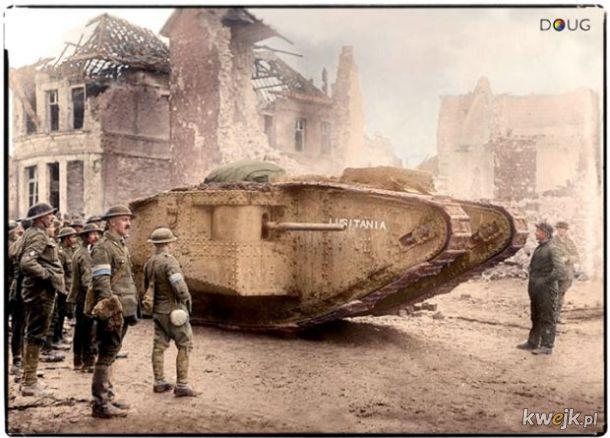 Pokolorowane zdjęcia z pól walk pierwszej wojny światowej
