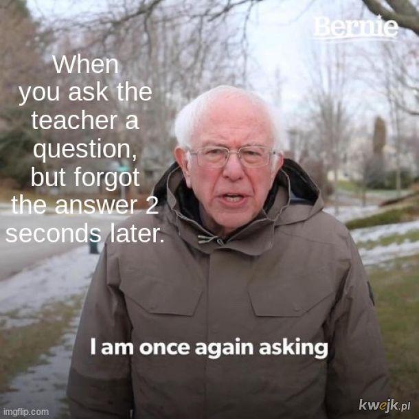Pytam ponownie