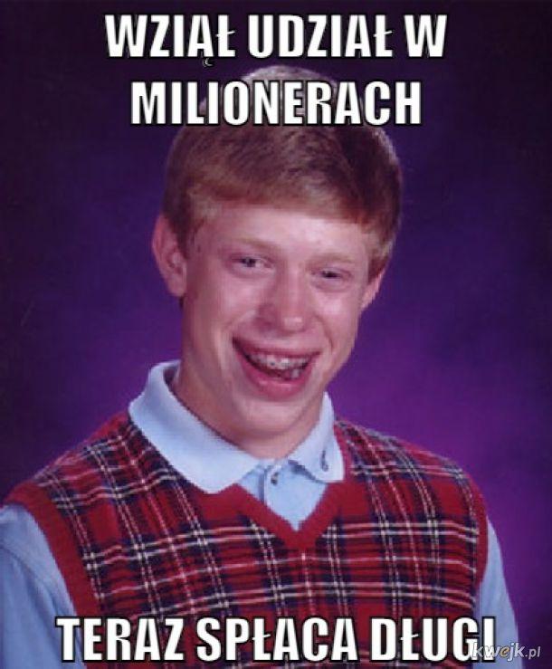 Wziął udział w milionerach