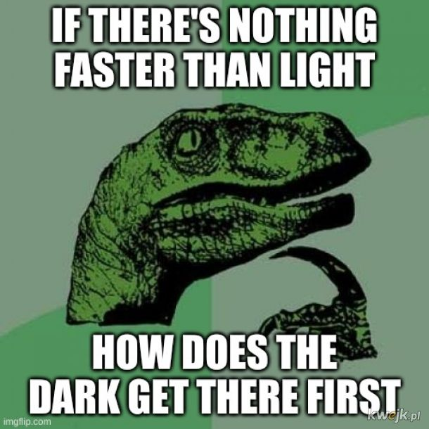 Najpierw było ciemno