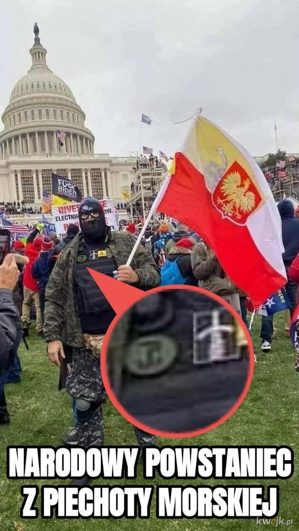 Polish Hussars support Trump!