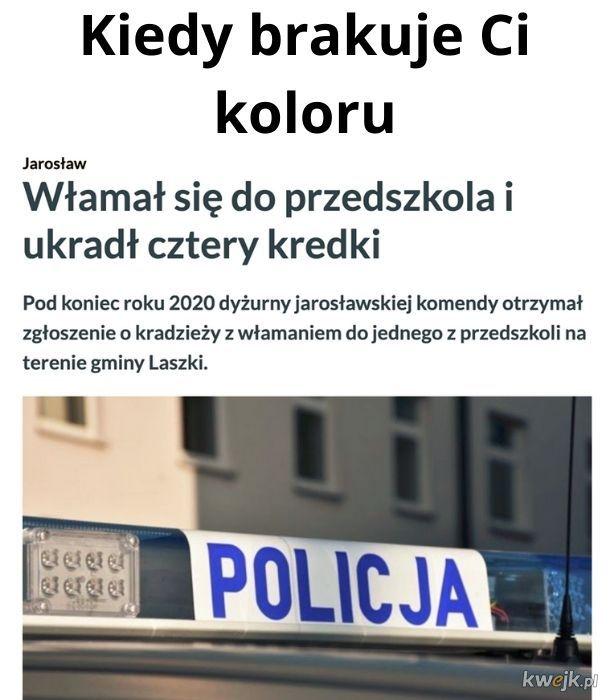 Czy policja ujawni kolory?
