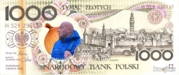 Nowy banknot 1000 zł ma już ustalony wzór
