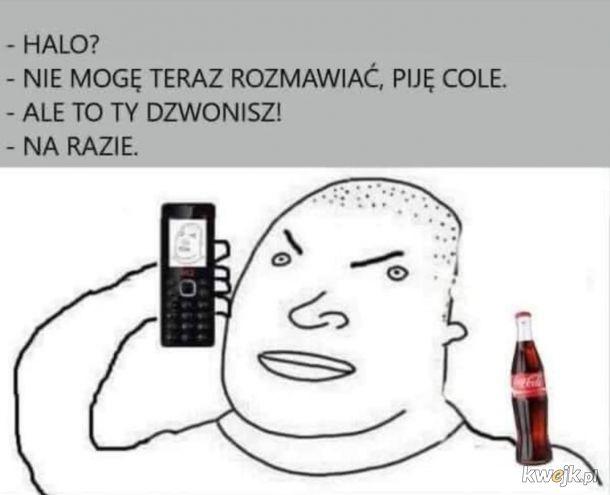 Picie Coca Coli