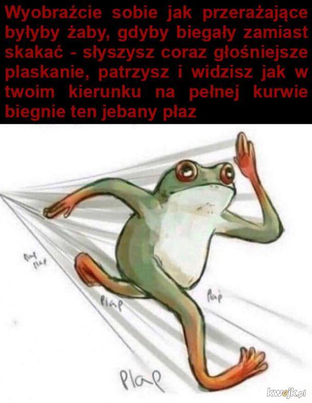 Przerażające żaby