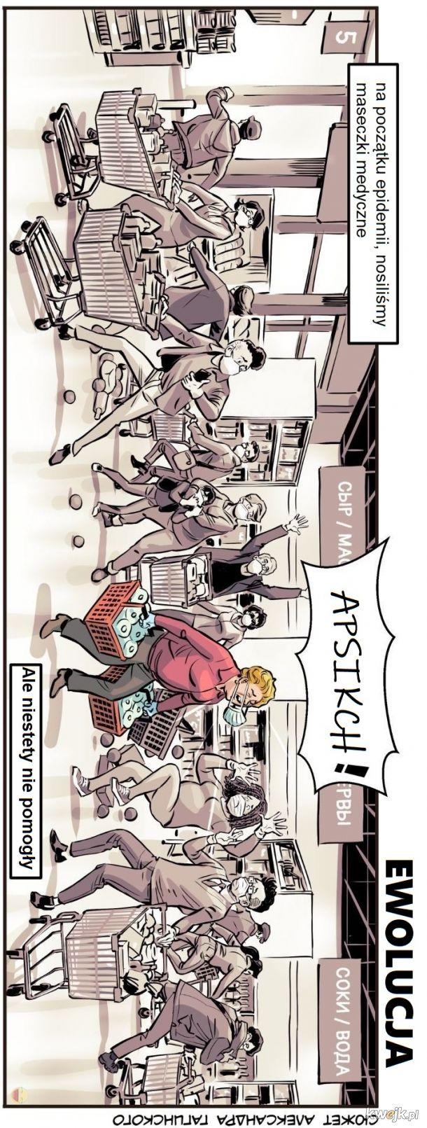 Komiks o pandemii do czytania na telefonach