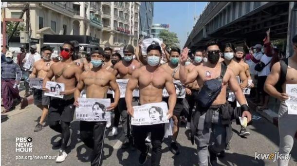 Protesty w Birmie po zamachu stanu