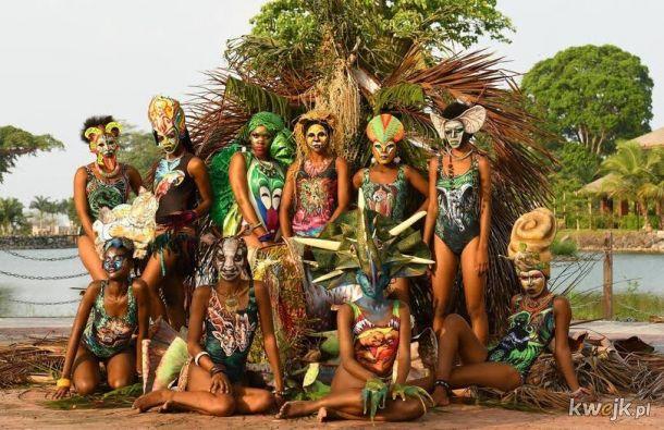 Zdjęcia z festiwalu Body-artu w Gwinei Równikowej