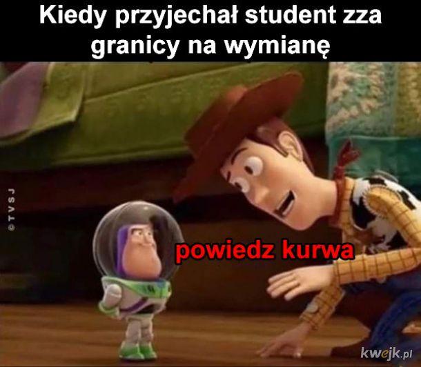 Student zza granicy