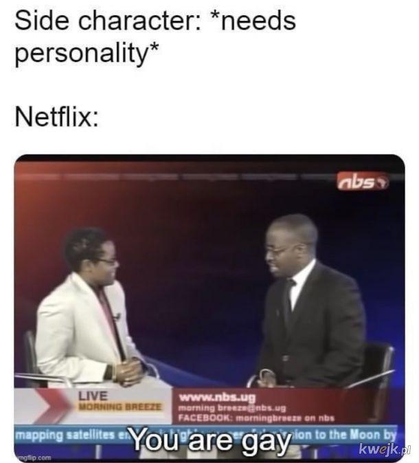 Bohaterzy z filmów z Netflixa