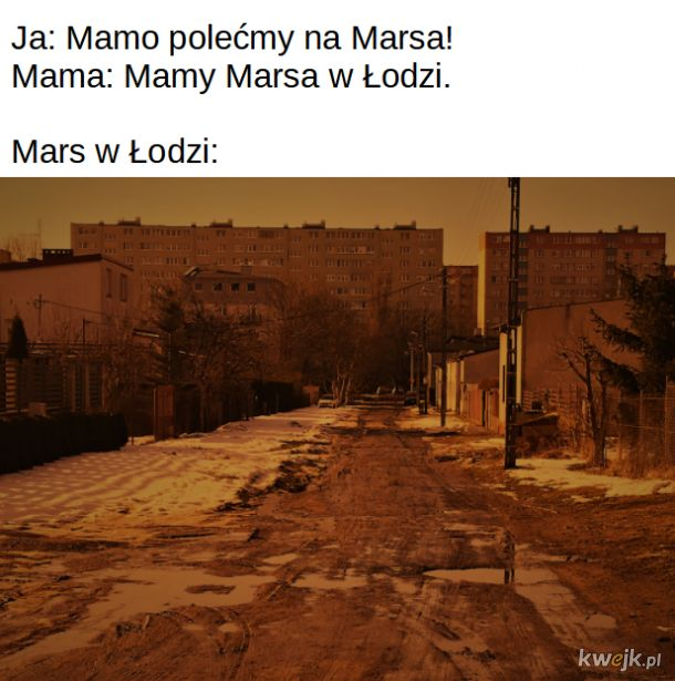 Mars w Łodzi