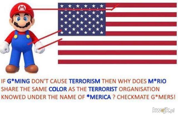Mario jest również furrasem, więc powiązania terrorystyczne się potwierdzają