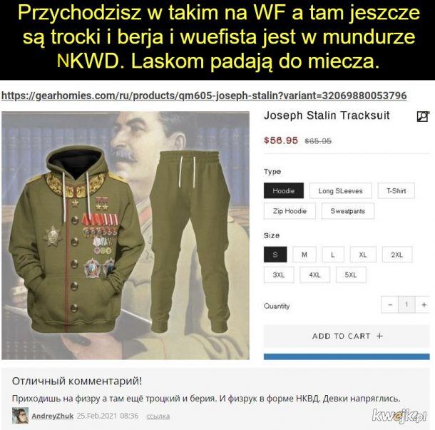 W ruskim internecie możesz kupić dres na mundur stalina