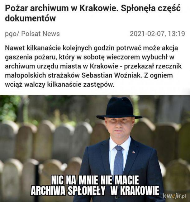 Pożar w Krakowie