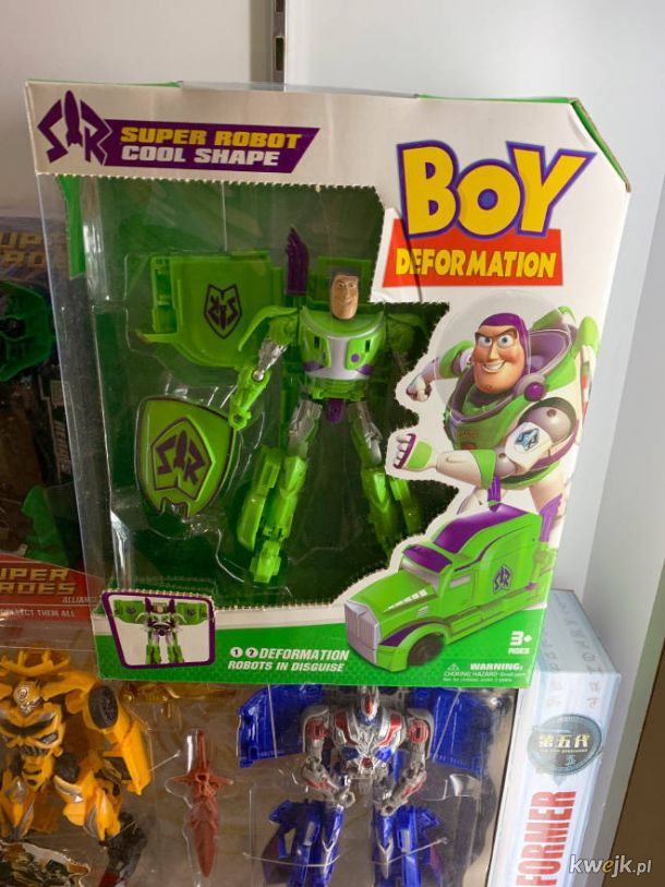 Te zabawki są made in China