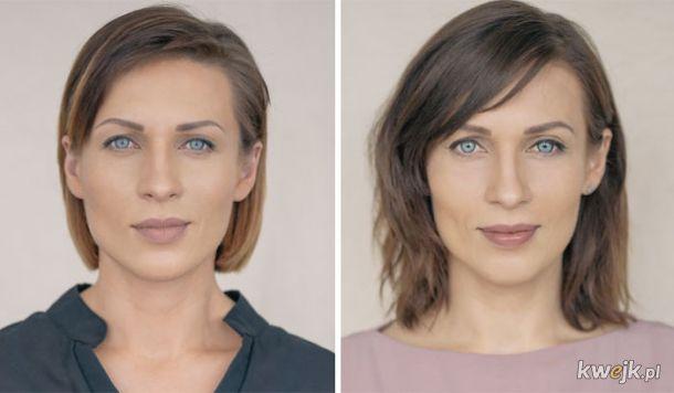Kobiety sfotografowane przed urodzeniem dziecka i po