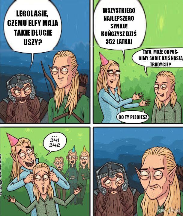 Długie elfie uszy