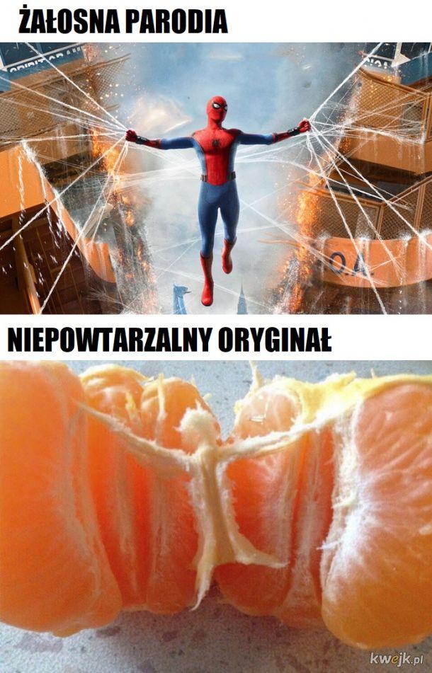 Siła spidermana bierze się zzzz....