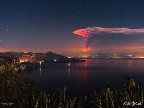 Etna 23 luty 2021 rok. Tak, to prawie teraz.