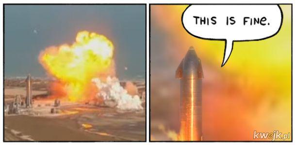 Jak nie lądować taką rakietą