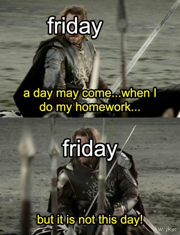 I z pewnością nie reszta weekendu