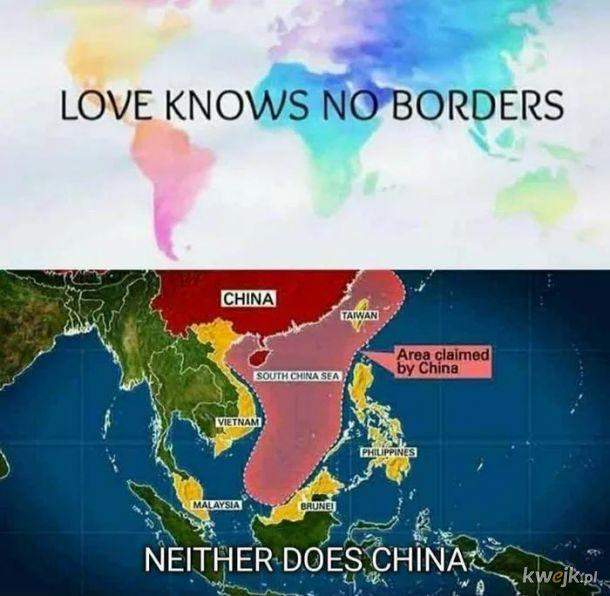 Milosc jest jak Chiny - nie zna granic