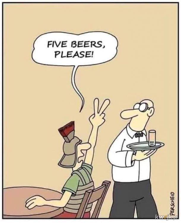 Tak Rzymianie zamawiali 5 piw