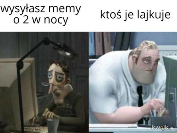Memy w nocy