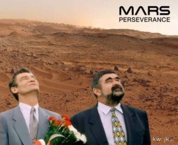 Wysyp memów po lądowaniu łazika Perseverance na Marsie