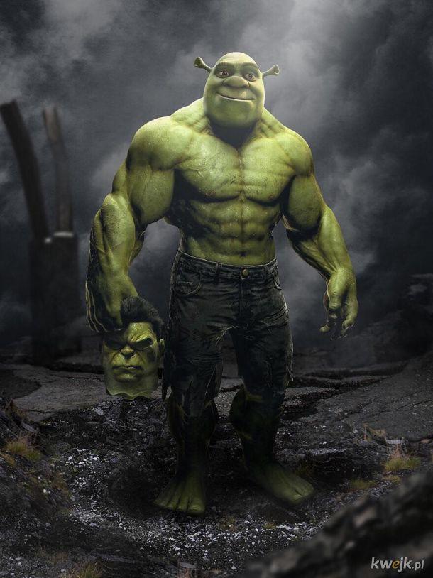 Shrek jako Hulk, Doktor Strange jako Harry Potter i inni. Te grafiki zachwycą fanów! Autor: Sandevil