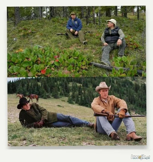 Putin w gorach (Santaolalla w tle)