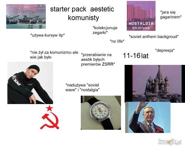 """Starter pack """"aesthetic komunista"""""""