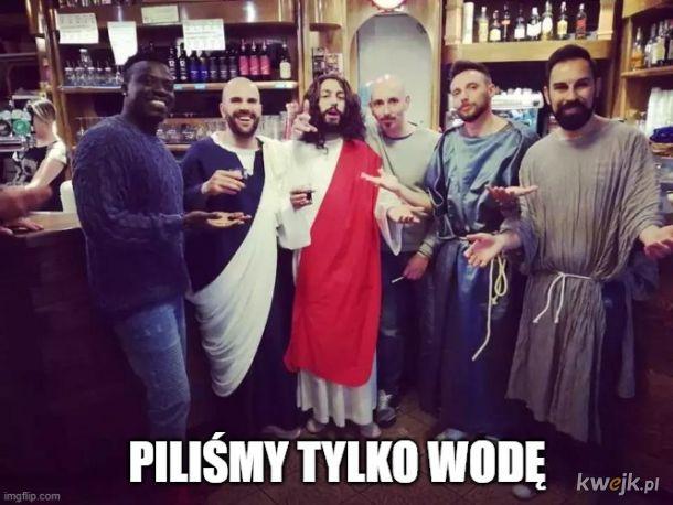 Jezus w barze z chłopakami