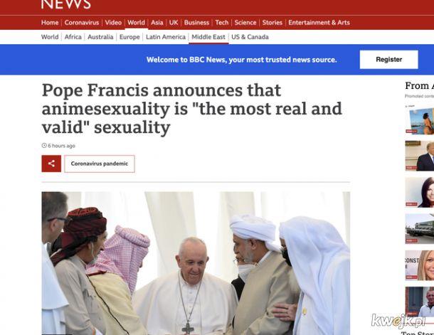 Brawo papieżu
