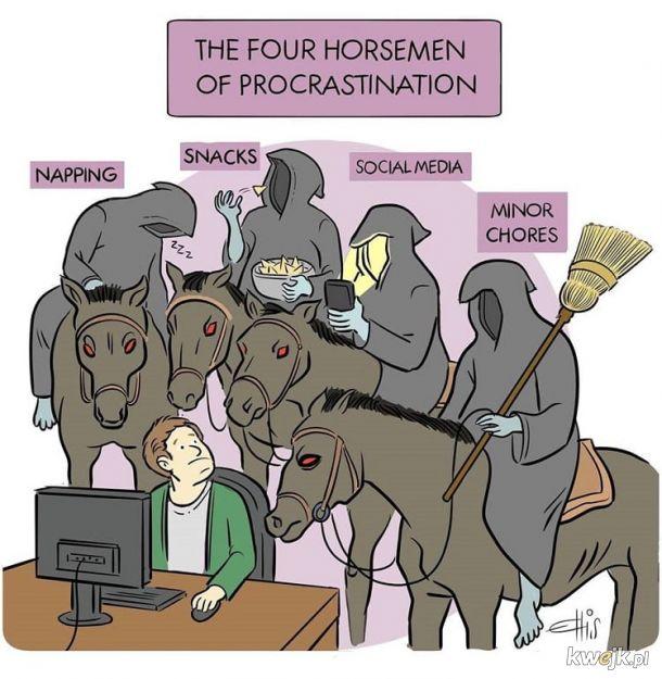 Czterech jeźdźców prokrastynacji