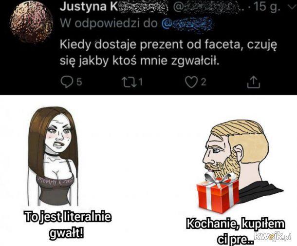 Justyna, poniosło Cię