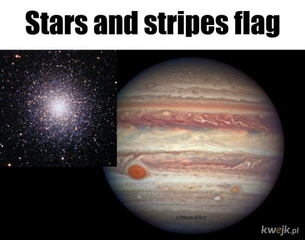 Flaga USA oczami astronomów